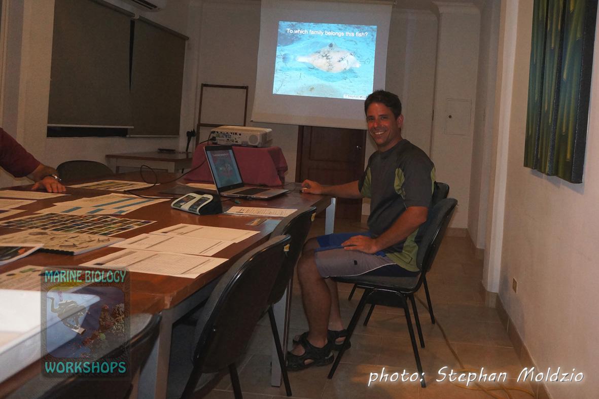 Marine biologist Stephan Moldzio