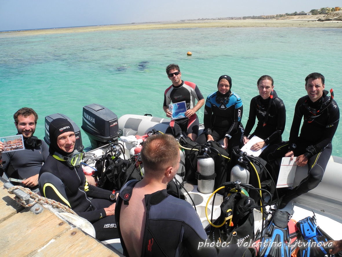 Ready for the Reef Check Survey at Marsa Egla!