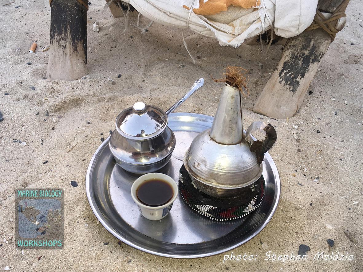 Gabbana = veeeery strong arabic coffee at Bawadi Bedouin Café, Marsa Shagra
